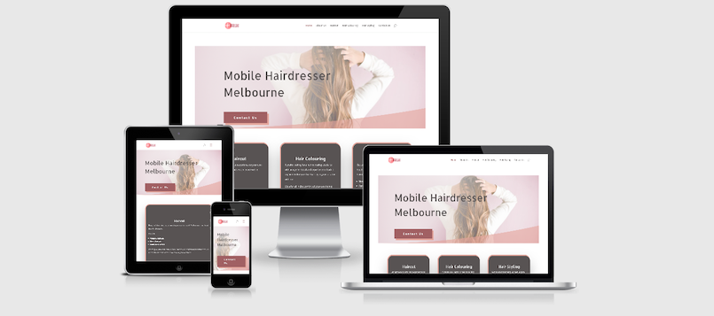 website development hairdresser
