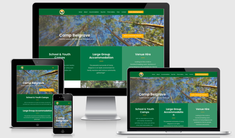 website design and SEO for Group Accommodation Venue in Melbourne